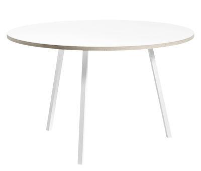 Table ronde Loop / Ø 120 cm - Hay blanc en métal