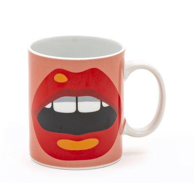 Mug Bouche / Porcelaine - Seletti multicolore en céramique