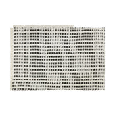 Decoration - Rugs - Way Rug Outdoor rug - / 140 x 200 cm - Recycled plastic bottles by Ferm Living - Off-white / Blue - Recycled polyester