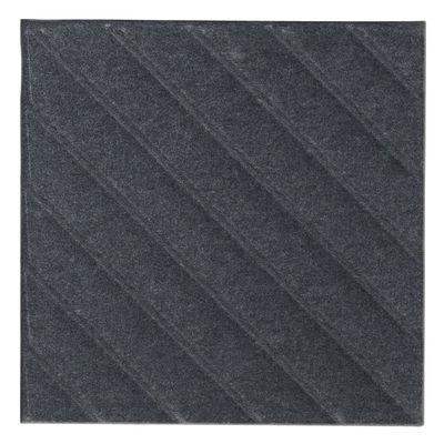 Mobilier - Paravents, séparations - Panneau acoustique mural Soundwave Stripes - Offecct - Gris anthracite - Fibre de polyester, Laine