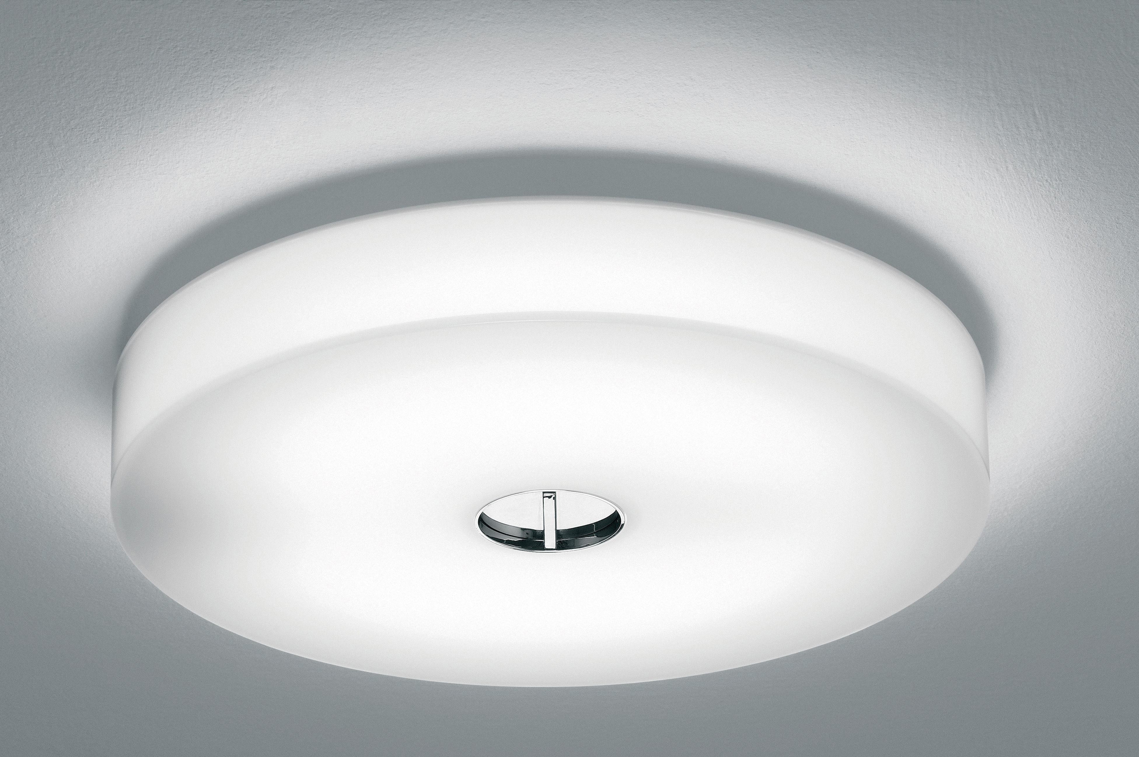 Plafoniera Flos : Applique d esterno button flos bianco h made in design