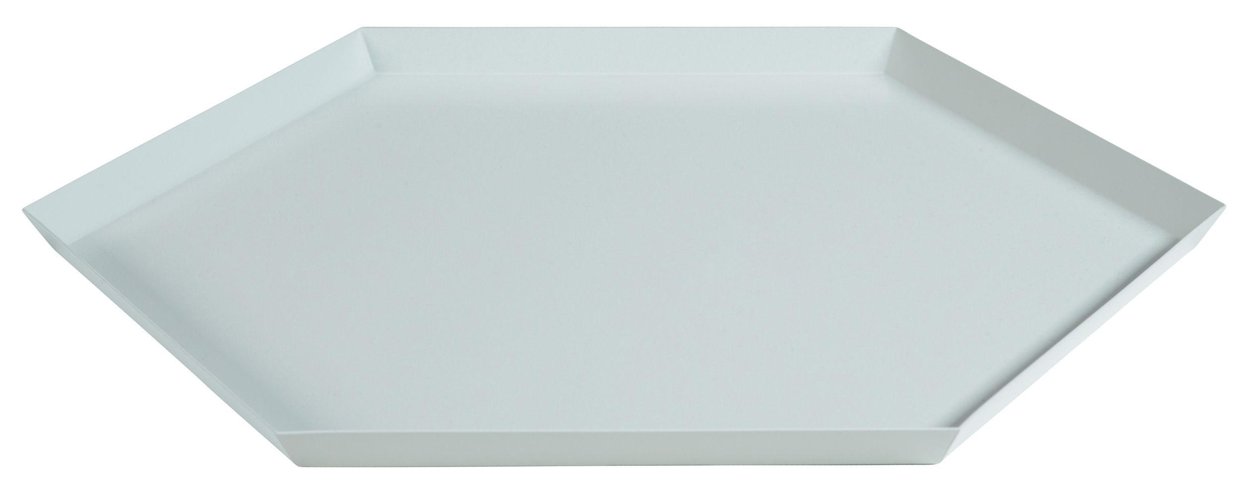 Arts de la table - Plateaux - Plateau Kaleido XL / 45 x 39 cm - Hay - Gris - Acier peint