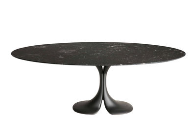 Furniture - Dining Tables - Didymos Round table - / Marble - Ø 140 cm by Driade - Black - Cristalplant, Marquina black marble
