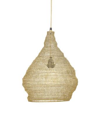 Illuminazione - Lampadari - Sospensione - / Rete di metallo di Bloomingville - Oro - Résille de métal - Structure interne : métal - Rosace : métal finition dorée