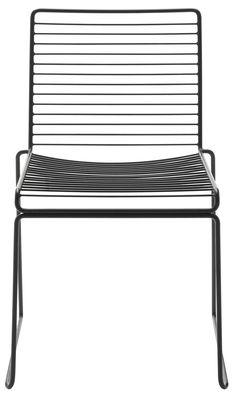 Möbel - Stühle  - Hee Stapelbarer Stuhl - Hay - Schwarz - lackierter Stahl