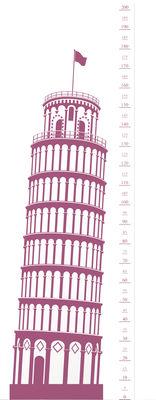 Interni - Per bambini - Sticker Measuring Souvenir from Pisa - Metro di Domestic - Pise / Rose - Vinile