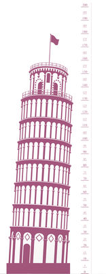 Image of Measuring Souvenir from Pisa Sticker Messlatte - Domestic - Rosa