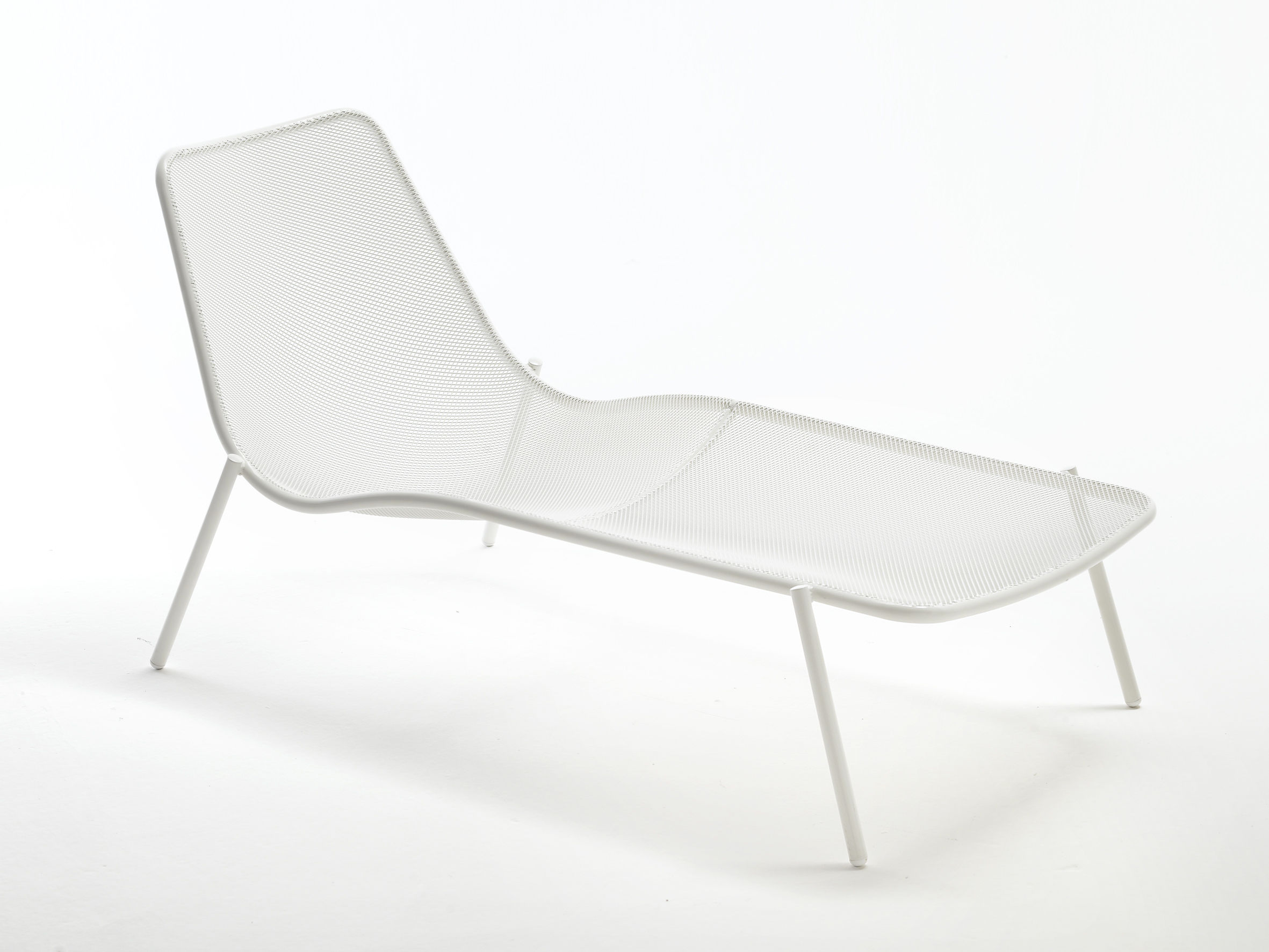 Sun Lounger Round By Emu White L 160 X L 78 X H 77 Made In