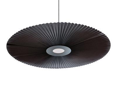 Suspension Carmen / LED - Ø 128 cm - Tissu plissé - Hartô gris ardoise en tissu
