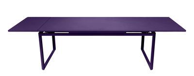 Table à rallonge Biarritz / L 200 à 300 cm - Fermob aubergine en métal