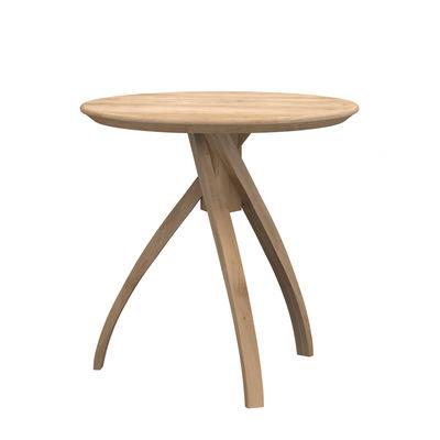 Mobilier - Tables basses - Table d'appoint Twist Large / Chêne massif - Ø 51 cm - Ethnicraft - Ø 51 cm / Chêne - Chêne massif