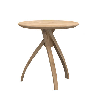Table d'appoint Twist Large / Chêne massif - Ø 51 cm - Ethnicraft bois naturel en bois