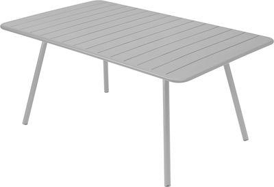 Table Luxembourg / 6 à 8 personnes - 165 x 100 cm - Fermob gris métal en métal