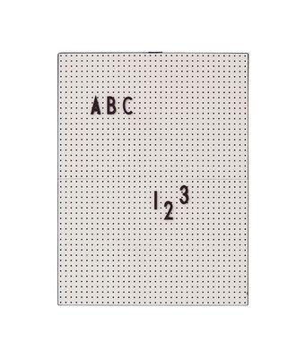 Tableau memo A4 / L 21 x H 30 cm - Design Letters gris en matière plastique