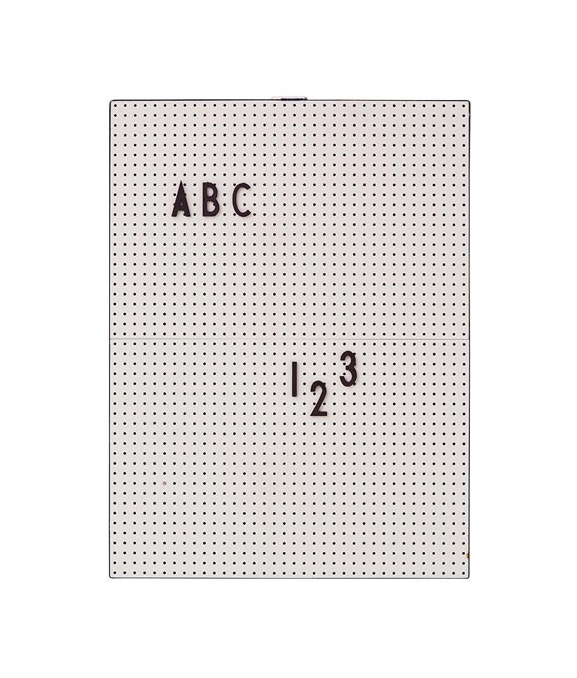 Déco - Mémos, ardoises & calendriers - Tableau memo A4 / L 21 x H 30 cm - Design Letters - Gris - ABS