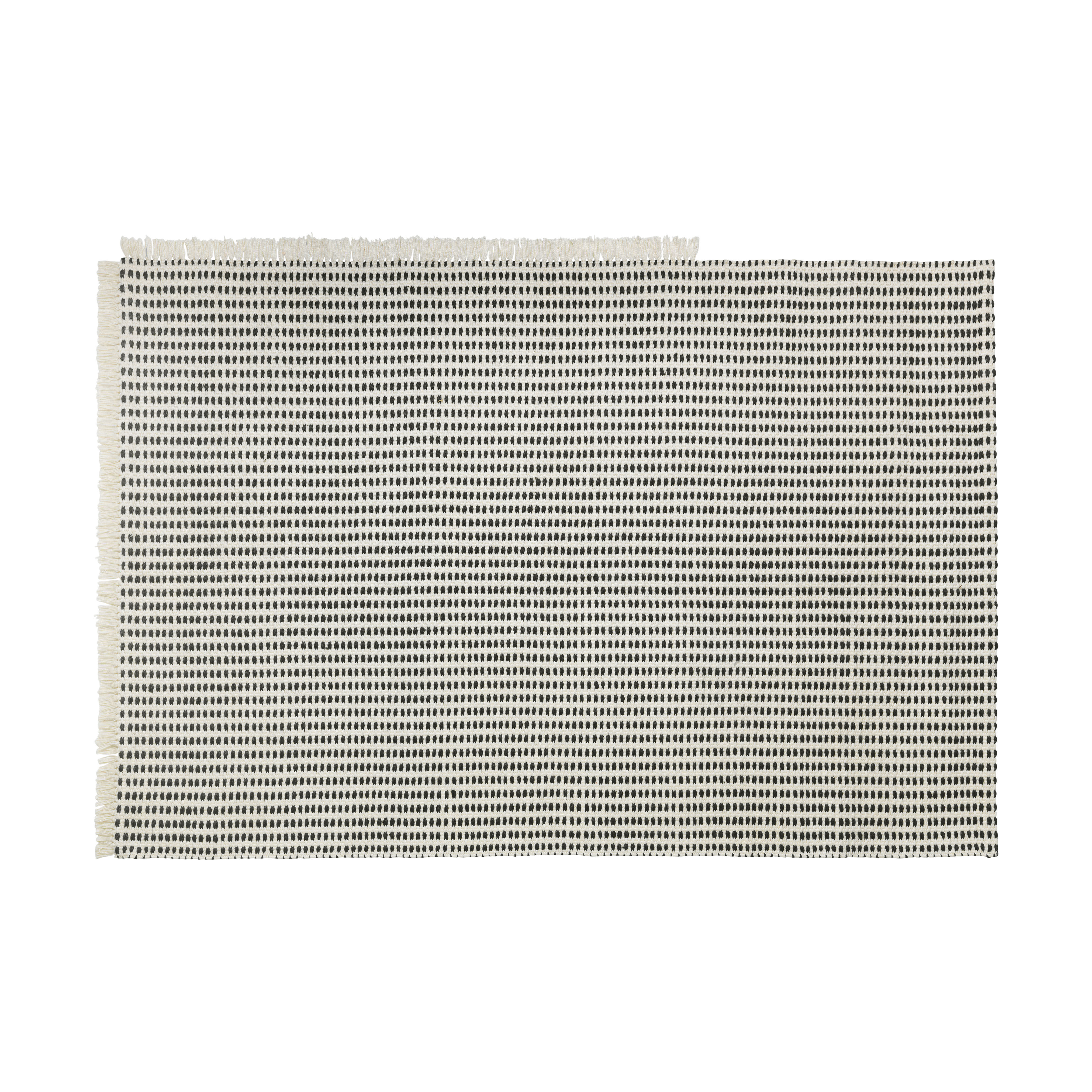 Déco - Tapis - Tapis d'extérieur Way Rug / 140 x 200 cm - Bouteilles en plastique recyclées - Ferm Living - Blanc cassé / Bleu - Polyester recyclé