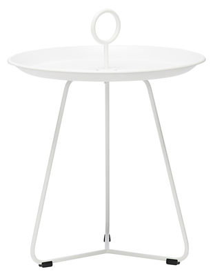 Arredamento - Tavolini  - Tavolino basso Eyelet Small / Ø 45 x H 46,5 cm - Houe - Bianco - Metallo rivestito in resina epossidica