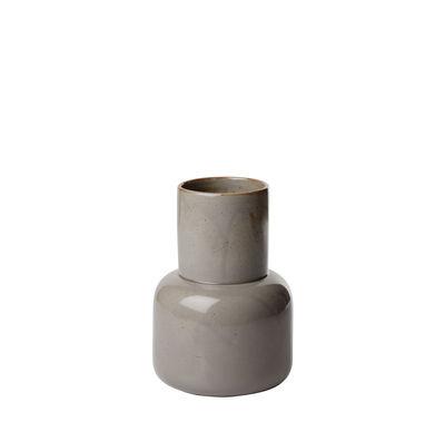 Decoration - Vases - Earthenware Vase - H 17,5 cm - Japonese earthenware by Fritz Hansen - Small / Moss grey - Enamelled earthenware
