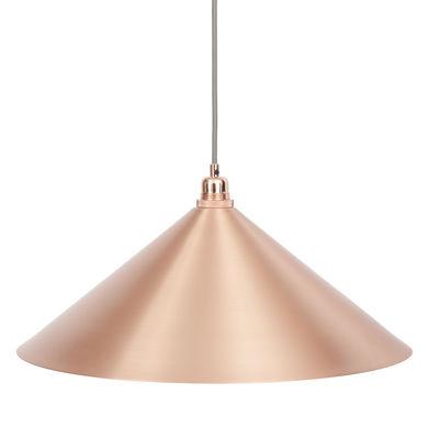 Abat-jour Cone Large / Ø 52 x H 19 cm - Frama cuivre brossé en métal