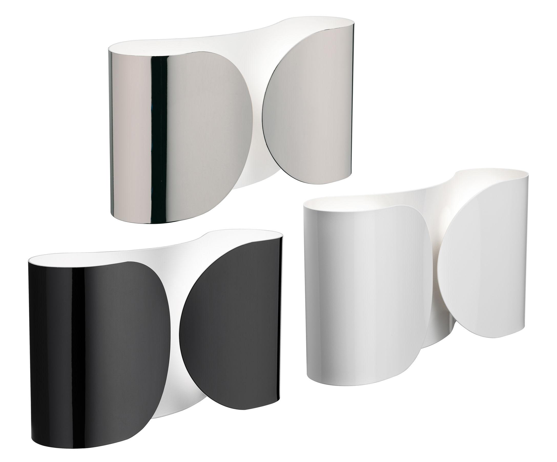 Foglio applique nero brillante by flos made in design