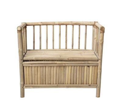 Banc enfant / avec rangement - L 82 cm - Bloomingville bambou naturel en bois