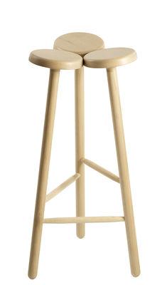 Furniture - Bar Stools - Temù Bar stool - H 68 cm by Internoitaliano - Wood - Solid ash