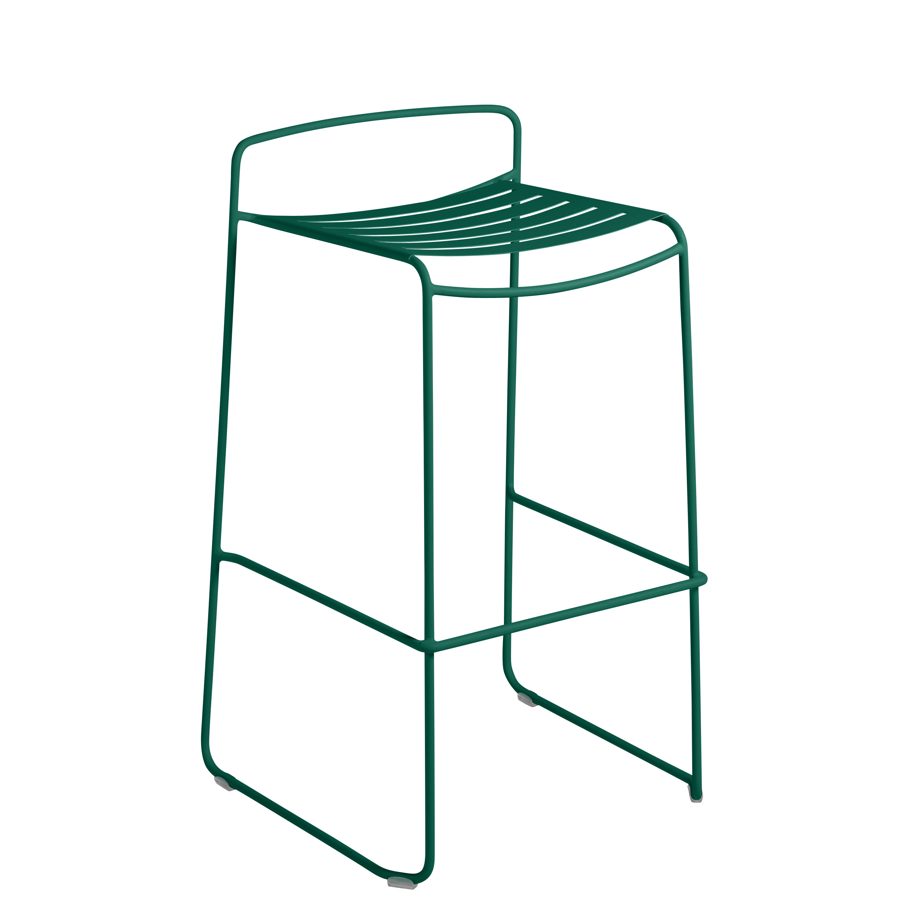 Möbel - Barhocker - Surprising Barhocker / Metall - H 78 cm - Fermob - Zederngrün - bemalter Stahl