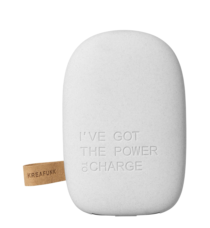 Accessoires - Objets connectés, accessoires high tech - Batterie de secours toCharge / Portable - iPhone & smartphone - Kreafunk - Gris clair - Matière plastique