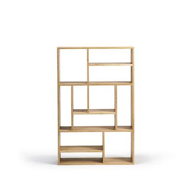 Mobilier - Etagères & bibliothèques - Bibliothèque M Small / Chêne massif - L 90 x H 139 cm - Ethnicraft - Small / chêne - Chêne massif
