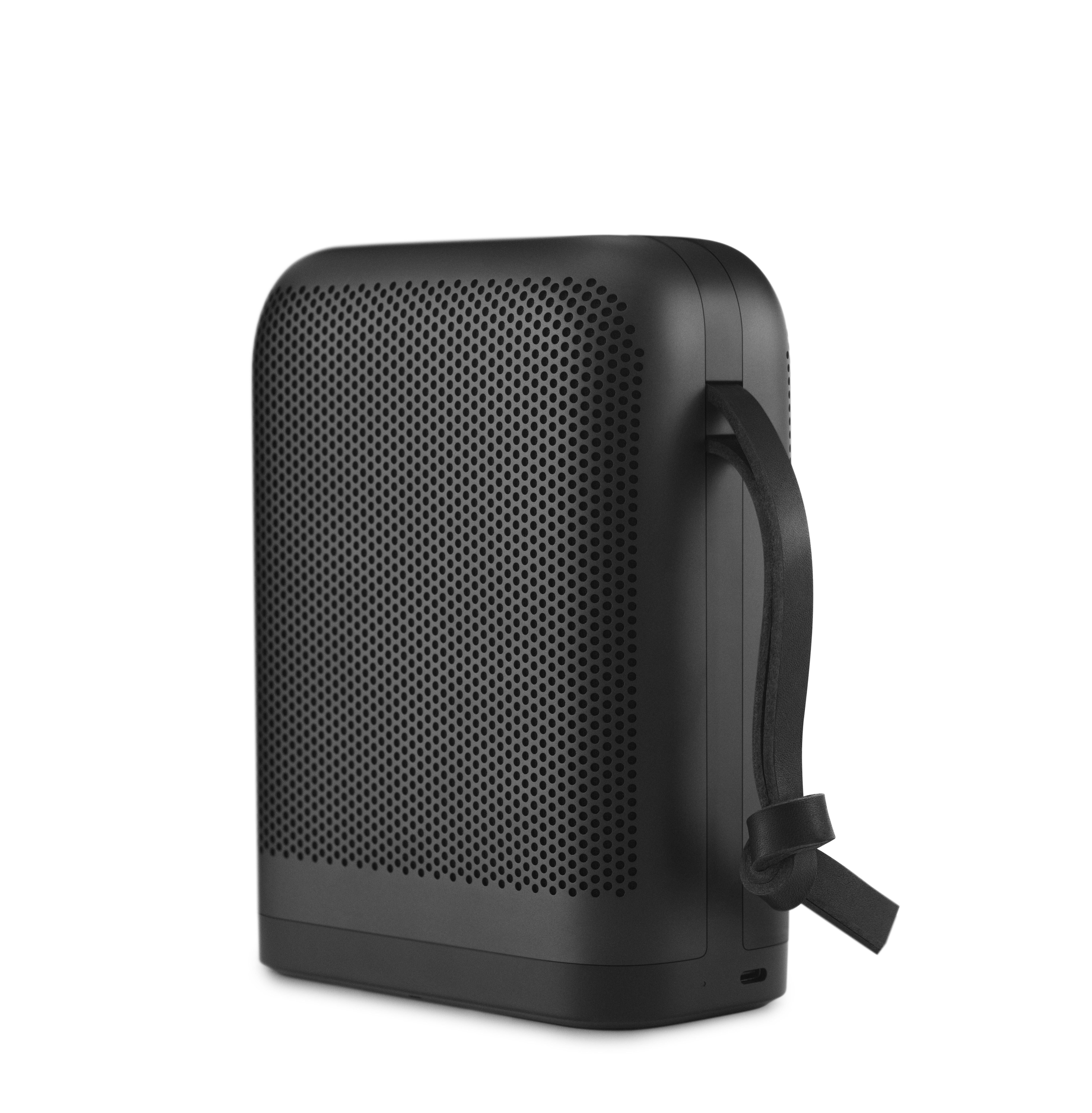 Accessories - Speakers & Audio - P6 Bluetooth speaker - / Portable by B&O PLAY by Bang & Olufsen - Black / Black leather - Aluminium, Genuine leather