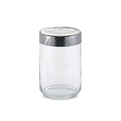 Cuisine - Boîtes, pots et bocaux - Bocal hermétique Veneer / 100 cl - Alessi - 100 cl / Acier & transparent - Acier inoxydable, Verre