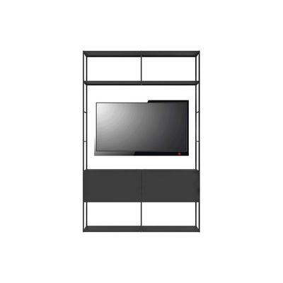 Furniture - Bookcases & Bookshelves - Easy Irony TV Bookcase - / Compo E - L 146 x H 226 cm by Zeus - Sanded black copper - Steel