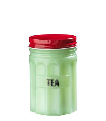 Kitchenware - Kitchen Storage Jars - Tea Box - / H 11 cm - China by Bitossi Home - Tea / Green & red - China