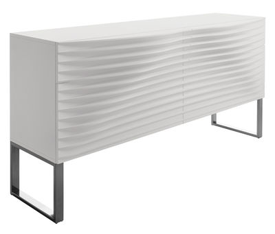 Buffet Tide 4 tiroirs - Horm blanc en bois