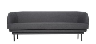 Canapé droit Cornice / Tissu - L 200 cm - ENOstudio gris en tissu