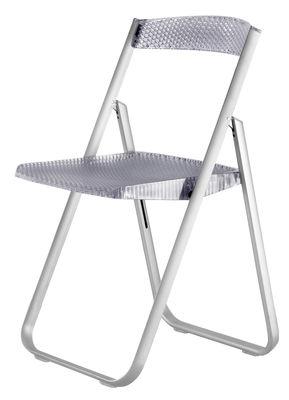 Chaise pliante Honeycomb Polycarbonate structure métal Kartell bleu en matière plastique