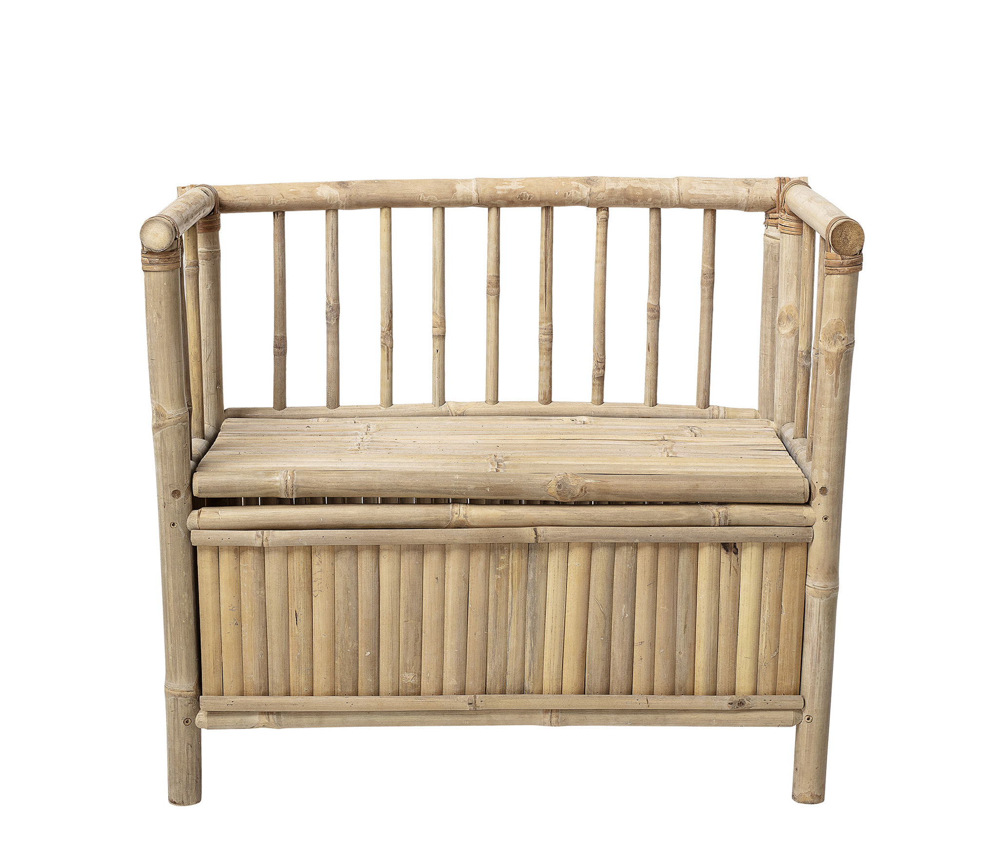 Furniture - Kids Furniture - Children's bench - / with storage - L 82 cm by Bloomingville - Natural bamboo - Bamboo