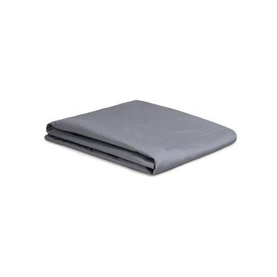 Drap plat 180 x 290 cm / Percale lavée - Au Printemps Paris gris en tissu