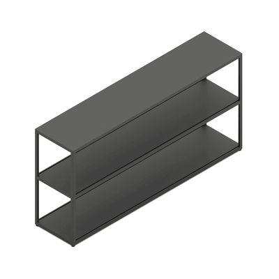 Mobilier - Etagères & bibliothèques - Etagère New Order / Métal - L100 x H 109,3 cm - Hay - Charbon - Aluminium peinture poudre