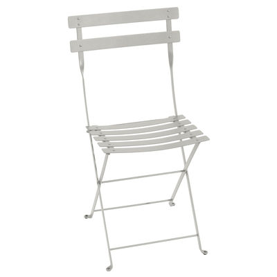 Furniture - Chairs - Bistro Folding chair - / Metal by Fermob - Clay grey - Lacquered steel