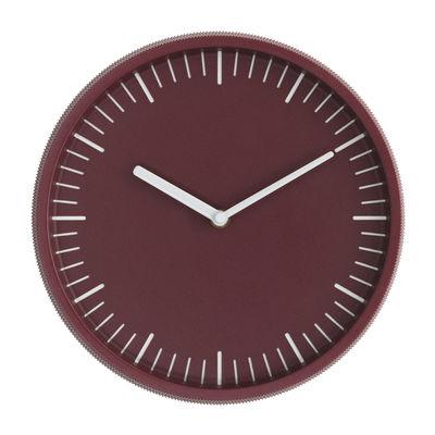 Horloge murale Day / Acier - Ø 28 cm - Normann Copenhagen bordeaux en métal
