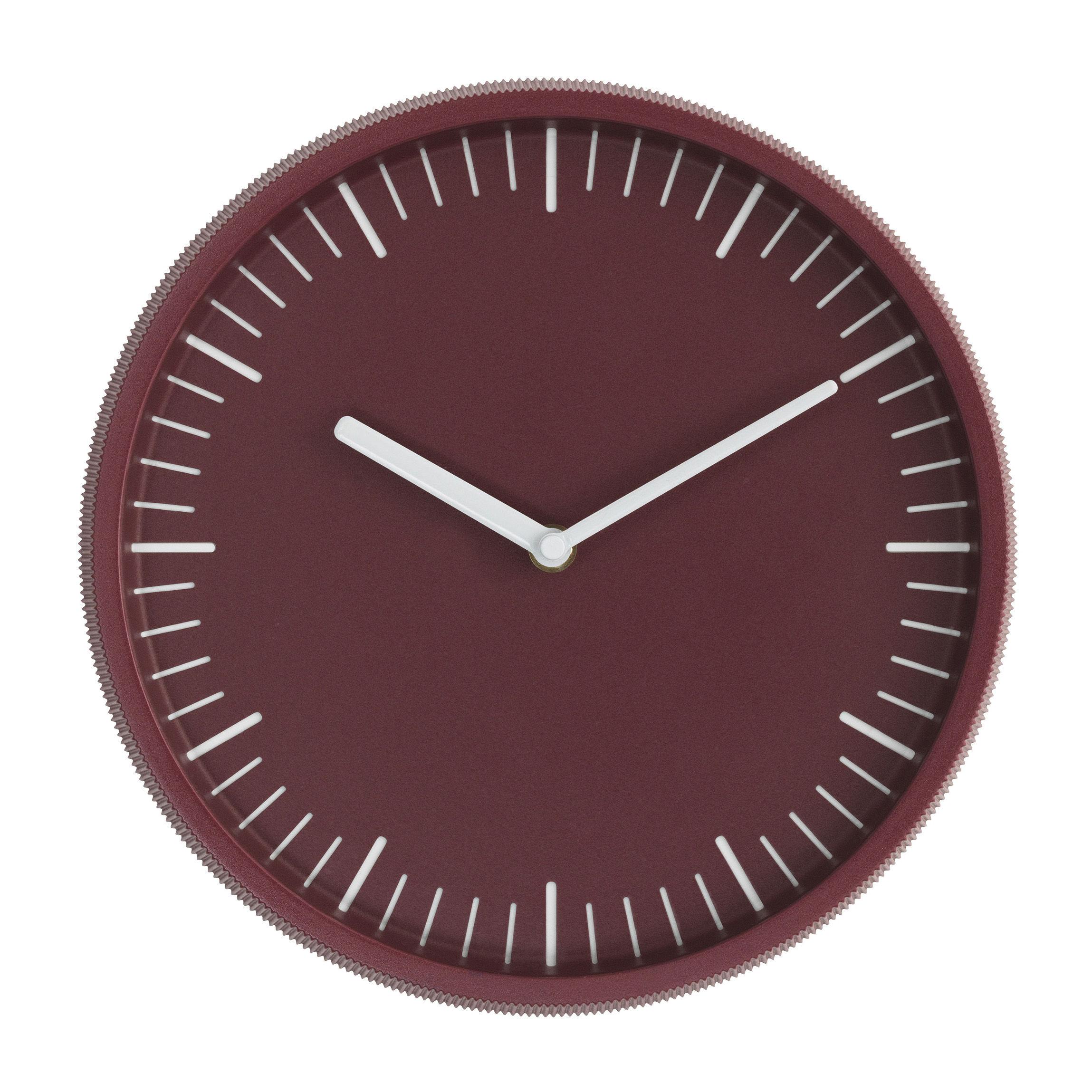 Déco - Horloges  - Horloge murale Day / Acier - Ø 28 cm - Normann Copenhagen - Bordeaux - Fonte d'aluminium, Verre