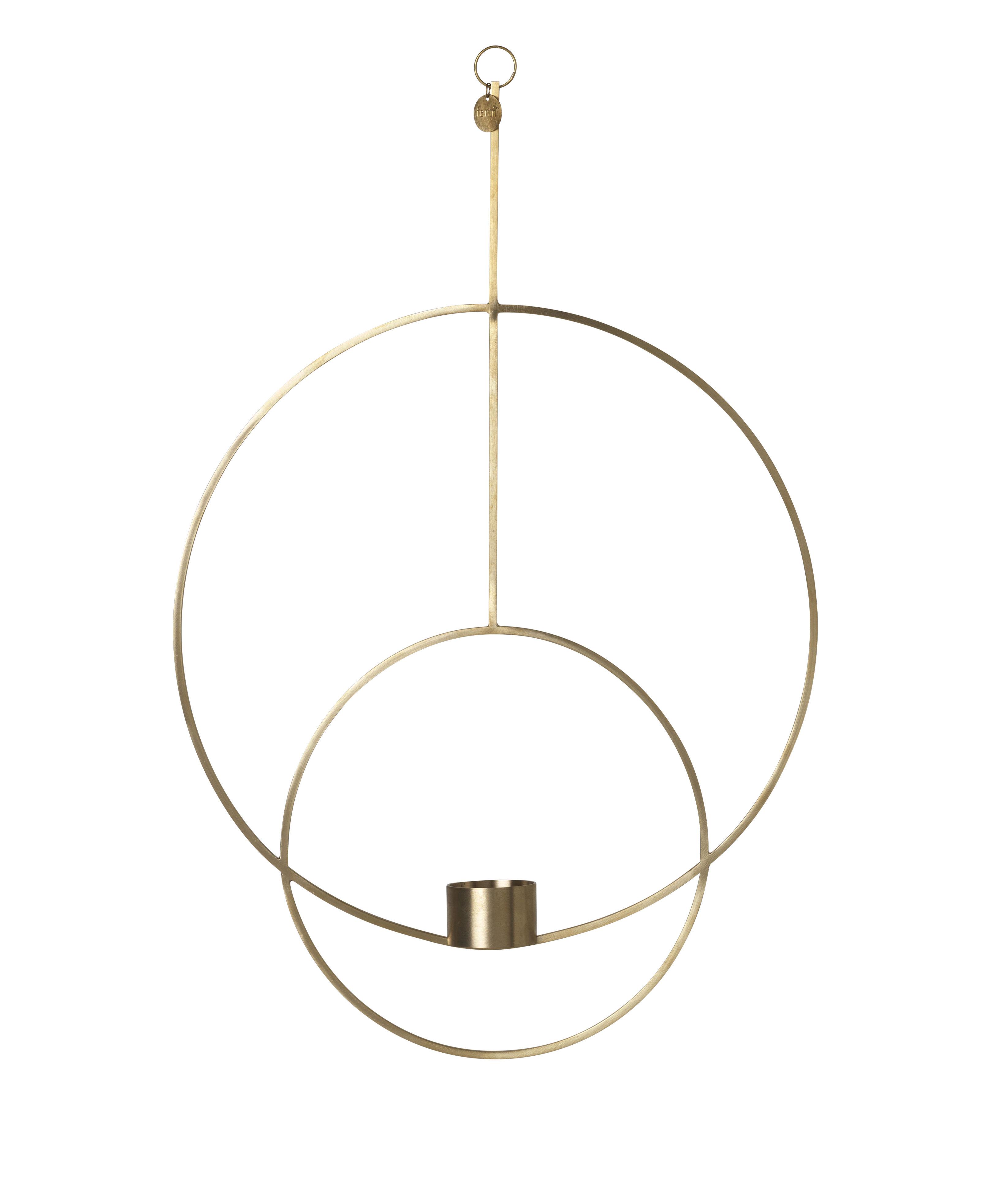 Dekoration - Kerzen, Kerzenleuchter und Windlichter - Circular Kerzenhalter zum Aufhängen / L 30 cm x H 45 cm - Ferm Living - Messing - Laiton massif