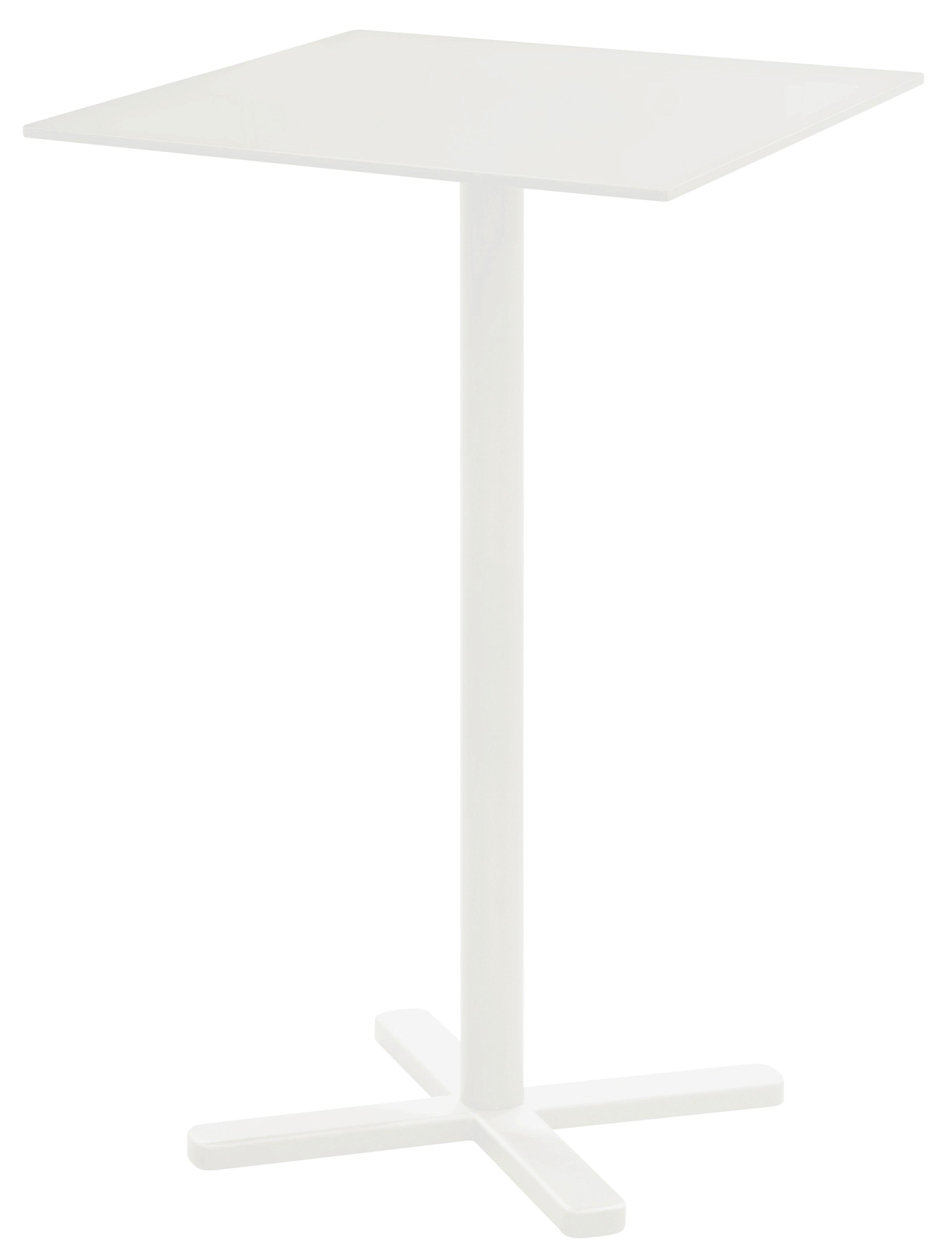 Möbel - Stehtische und Bars - Darwin Klappbarer Stehtisch / 70 x 70 cm - Emu - Weiß - gefirnister Stahl