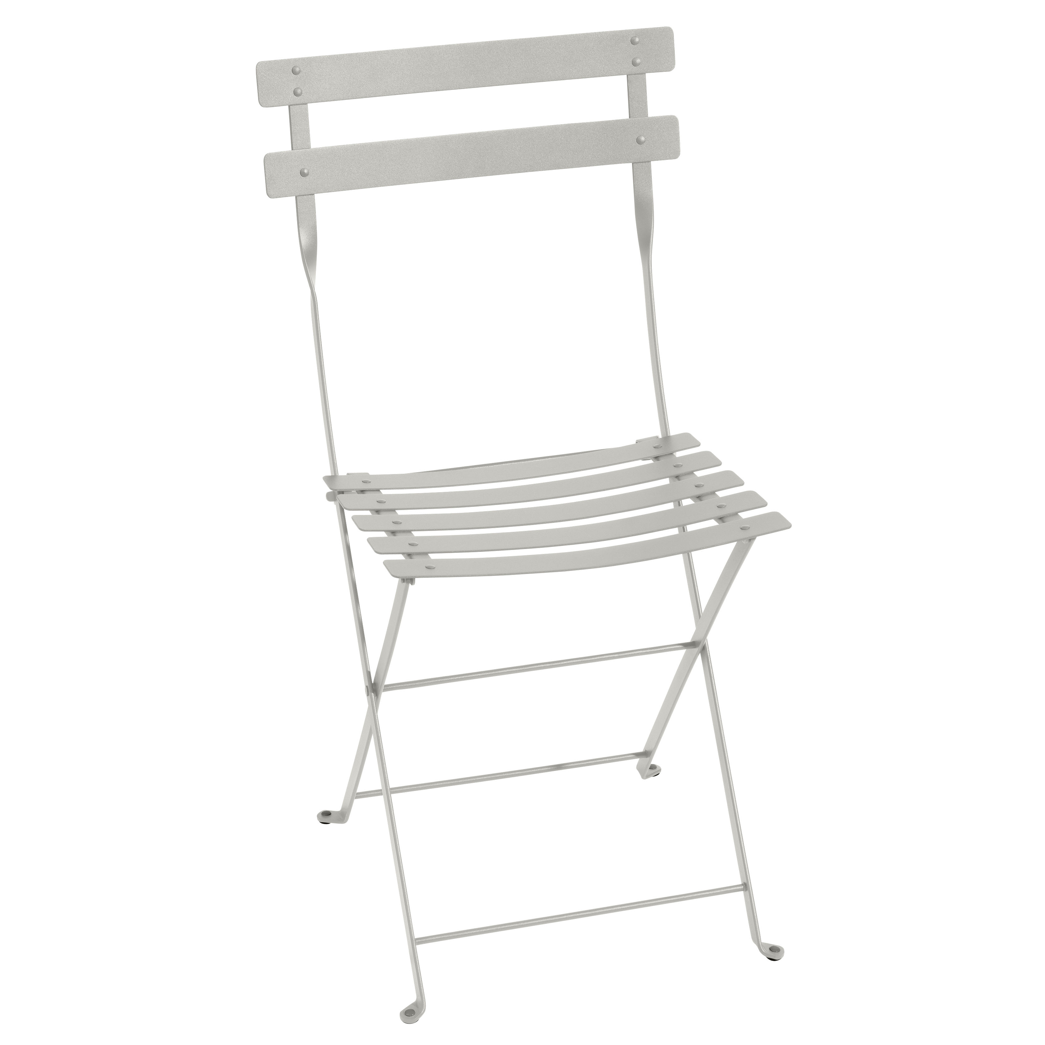 Möbel - Stühle  - Bistro Klappstuhl / Metall - Fermob - Lehmgrau - lackierter Stahl