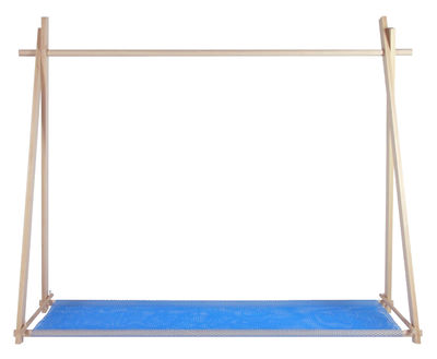 LeKit Large Kleiderständer - / L 166 cm x H 134 cm Buche / Netz blau ...