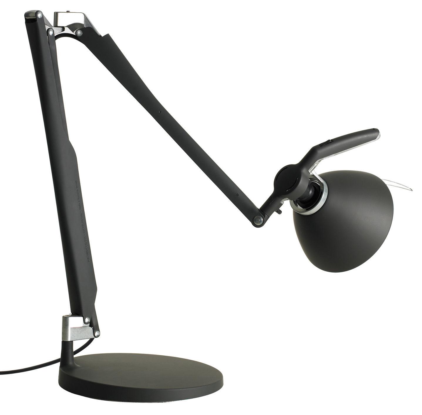 Luminaire - Lampes de table - Lampe de table Fortebraccio interrupteur - Luceplan - Noir - Acier verni