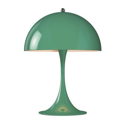 Lampe de table Panthella Mini LED / H 33,5 cm - Métal - Louis Poulsen bleu-vert en métal