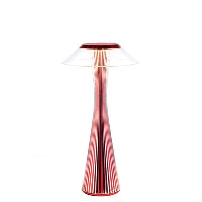 Luminaire - Lampes de table - Lampe sans fil Space Indoor / LED - Rechargeable - Edition limitée - Kartell - Rouge métallisé - ABS, PMMA