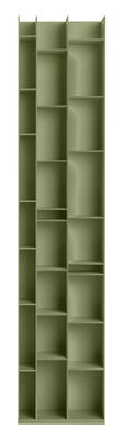 Arredamento - Scaffali e librerie - Libreria Random 3C - / L 46 x H 217 cm di MDF Italia - Oliva - Fibra di legno